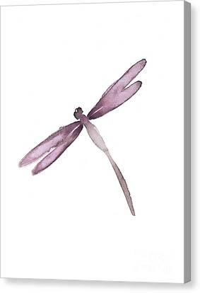 Purple Dragonfly. Canvas Print