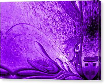Purple Expectations Canvas Print by Genio GgXpress