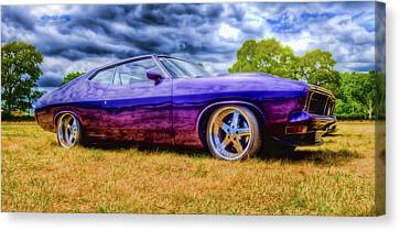 Purple Falcon Coupe Canvas Print by Phil 'motography' Clark