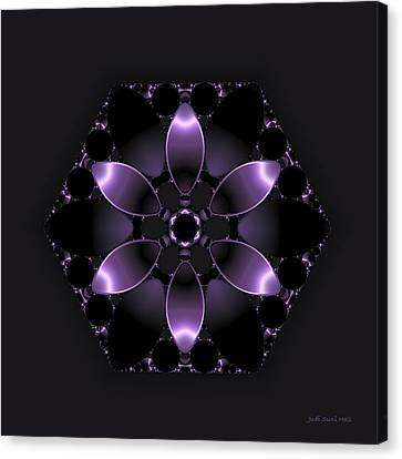 Purple Fantasy Flower Canvas Print by Judi Suni Hall