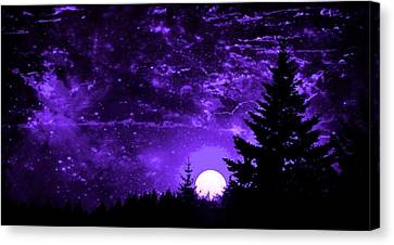 Purple Fantasy Sunset Canvas Print
