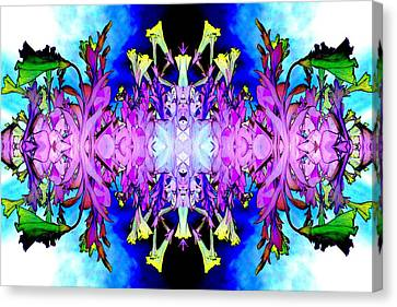 Purple Flower Abstract Canvas Print by Marianne Dow