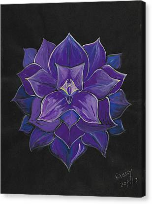 Purple Flower - Painting Canvas Print by Veronica Rickard