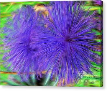 Purple Flowers Canvas Print by Kathleen Struckle