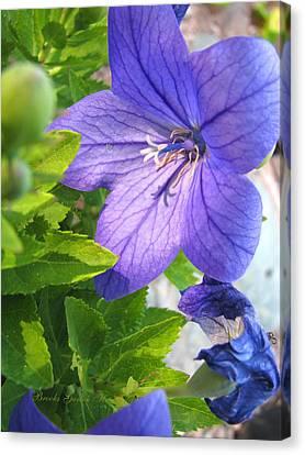 Purple Flowers Majesty Canvas Print