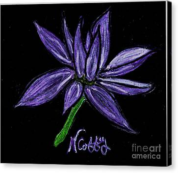 Purple Flowers Canvas Print by Neil Stuart Coffey