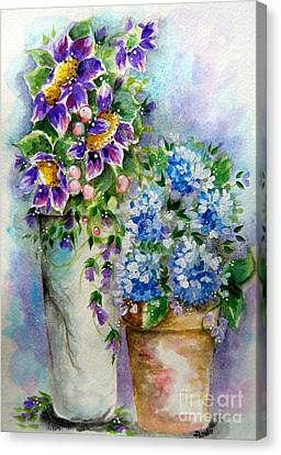 Purple Flowers Canvas Print by Patrice Torrillo
