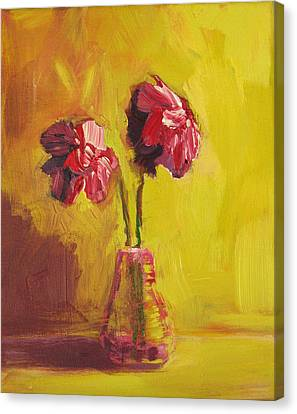 Interior Still Life Canvas Print - Purple Flowers by Patricia Awapara