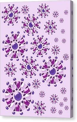 Purple Gems Canvas Print by Anastasiya Malakhova