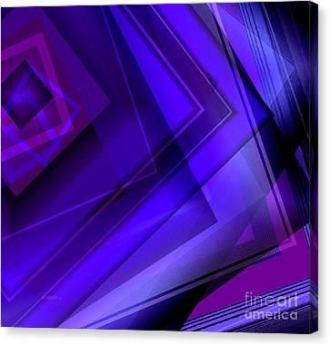 Purple Geometric Transparency Canvas Print by Mario Perez