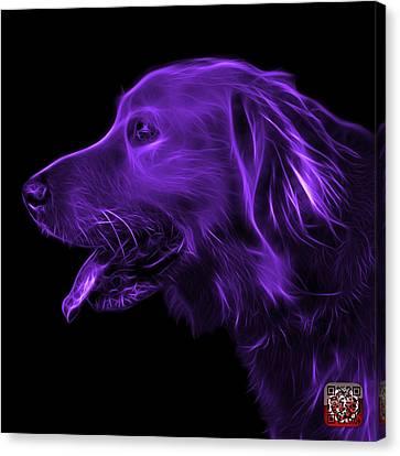 Purple Golden Retriever - 4047 F Canvas Print