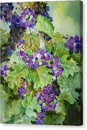 Purple Grapes Canvas Print