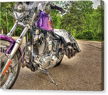 Purple Harley Canvas Print