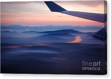 Purple Haze - Atmospheric View Of Early Morning Mist Canvas Print by David Hill