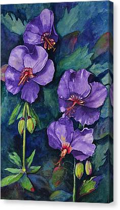 Purple Hibiscus Canvas Print