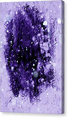 Purple Impression Canvas Print