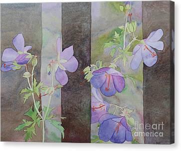 Purple Ivy Geranium Canvas Print