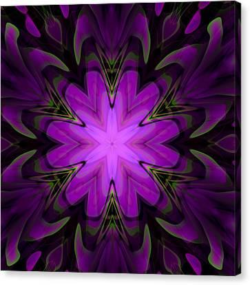Purple Kaleidoscopic Flower Canvas Print by Hakon Soreide