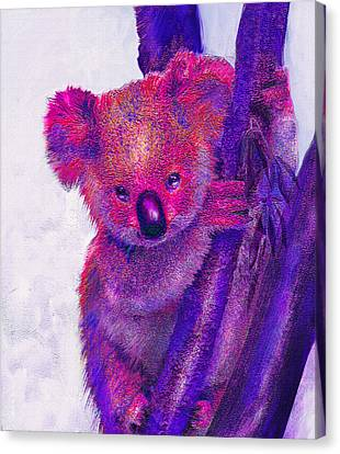 Purple Koala Canvas Print by Jane Schnetlage