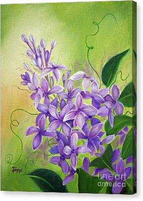 Purple Lilacs Canvas Print by Jimmie Bartlett
