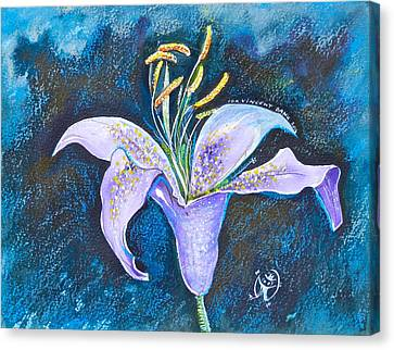 Purple Lily Canvas Print by Ion vincent DAnu