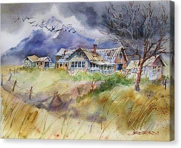 Purple Lone Cone Ranch Canvas Print