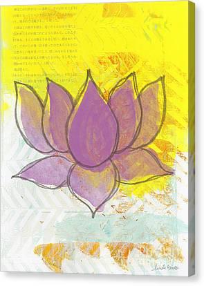 Purple Lotus Canvas Print by Linda Woods