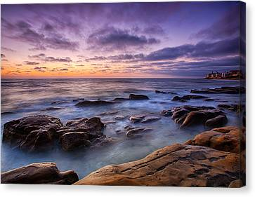 La Jolla Art Canvas Print - Purple Majesty No Mountain by Peter Tellone
