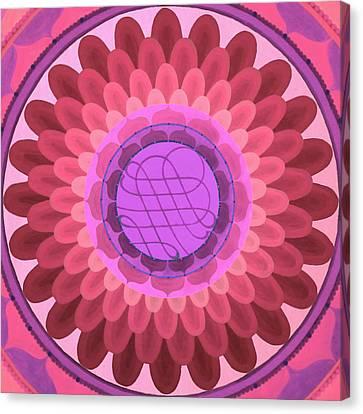 Purple Mandala Canvas Print by Vlatka Kelc