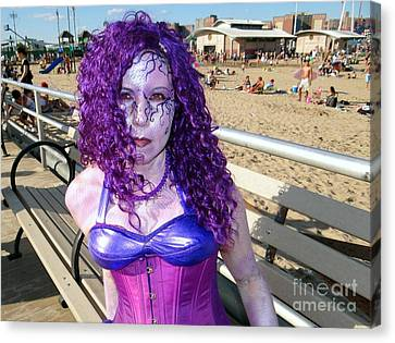 Canvas Print featuring the photograph Purple Mermaid by Ed Weidman