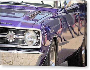 Purple Mopar Canvas Print by Bonfire Photography