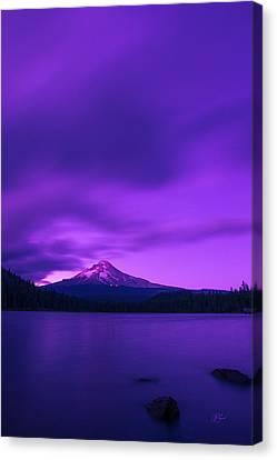 Purple Mountain Majesty Canvas Print by Lori Grimmett