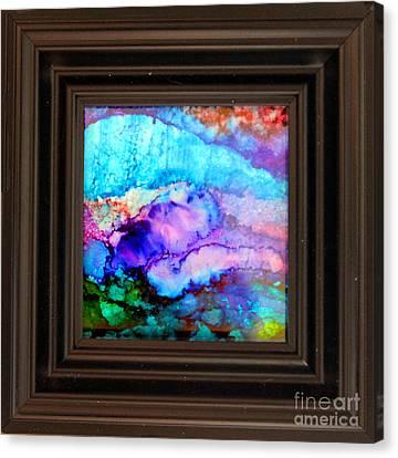 Purple Mountains Canvas Print by Alene Sirott-Cope