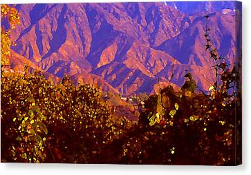 Purple Mountains Majesty Canvas Print by Amy Vangsgard