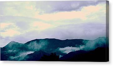 Purple Mountains Majesty Blue Ridge Mountains Canvas Print by Kathy Barney