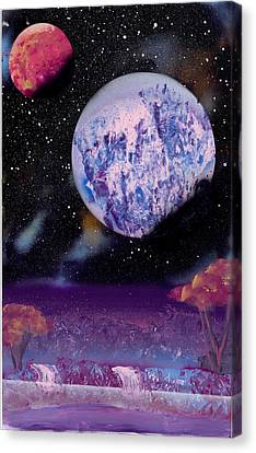 Purple Oasis Canvas Print by Marc Chambers