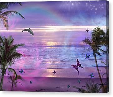 Harmonious Canvas Print - Purple Ocean Dream by Alixandra Mullins