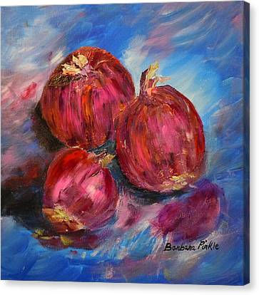 Purple Onions Canvas Print by Barbara Pirkle