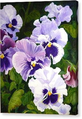 Purple Pansies Canvas Print
