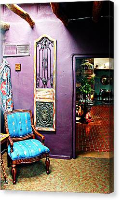 Antique Ironwork Canvas Print - Purple Parlor by Barbara Chichester