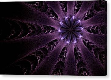 Canvas Print featuring the digital art Purple Passion by GJ Blackman