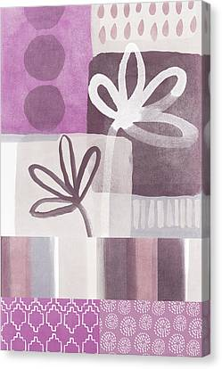 Purple Patchwork- Contemporary Art Canvas Print