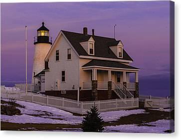Purple Pemaquid Canvas Print