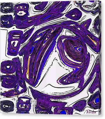 Purple People Eater Canvas Print by Alec Drake