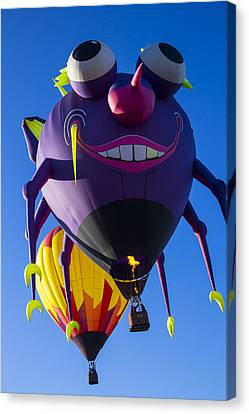 Purple People Eater And Friend Canvas Print by Garry Gay