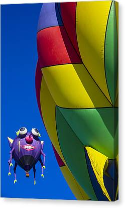 Purple People Eater Smiling Canvas Print by Garry Gay