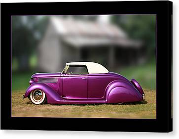 Canvas Print featuring the photograph Purple Perfection by Keith Hawley