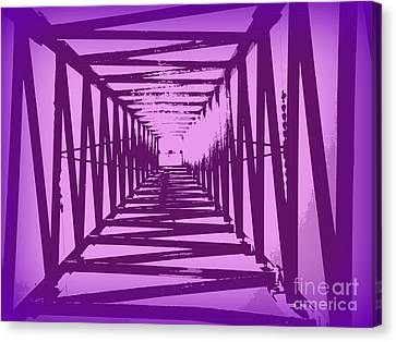 Canvas Print featuring the photograph Purple Perspective by Clare Bevan