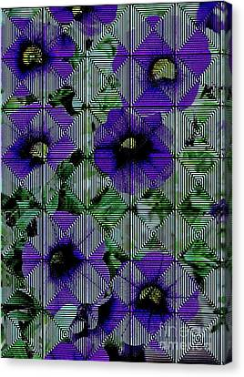 Purple Petunia Abstract Canvas Print by Marsha Heiken