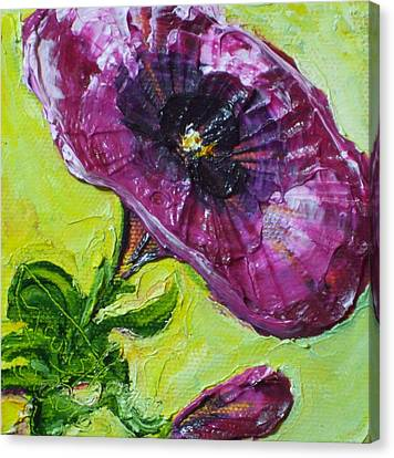 Purple Petunia Canvas Print by Paris Wyatt Llanso